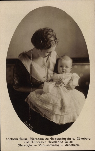 Ak Prinzessin Victoria Luise von Preußen, Herzogin zu Braunschweig und Lüneburg, Tochter