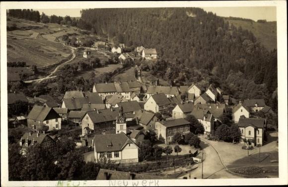 Foto Ak Neuwerk Rübeland Oberharz am Brocken, Kirche, Zum weißen Rössel, Wohnhäuser