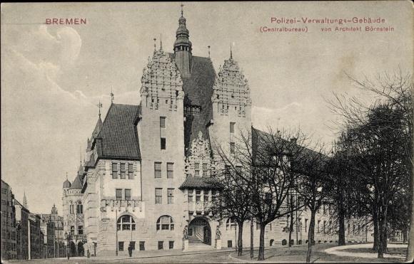 Bremen Architekt ak hansestadt bremen polizei verwaltungsgebäude zentralbureau