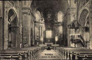 Ak Walldürn im Neckar Odenwald Kreis, Blick in das Innere der Kirche