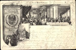 Ganzsachen Ak PP 9 F 8 03, Berlin, Verband Deutscher Post und Telegraphen Assistenten Kasino