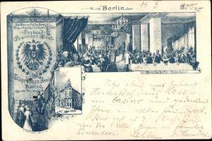 Ganzsachen Ak PP 9 F 8 01, Berlin, Verband Deutscher Post und Telegraphen Assistenten Kasino