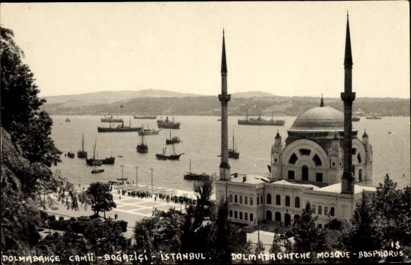 Ak Konstantinopel Istanbul Türkei, Dolmabahce, Moschee