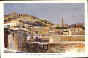 Künstler Ak Richter, B., Fès Fez Marokko, Blick von der deutschen Post aus