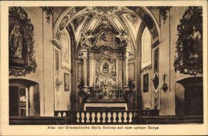 Ak Międzygórze Wölfelsgrund Schlesien, Altar der Gnadenkirche Maria Schnee, Innenansicht