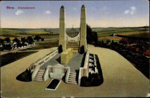 Ak Gera in Thüringen, Krematorium und Umgebung