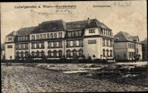 Ak Mundenheim Ludwigshafen am Rhein Rheinland Pfalz, Blick auf die Schillerschule