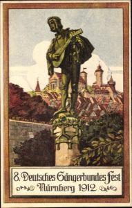 Ak Nürnberg Mittelfranken Bayern, 8. Deutsches Sängerbundes Fest 1912, Schokoladen Fabrik Haeberlein