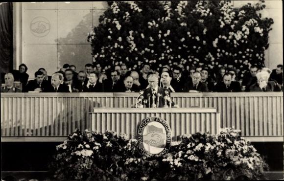 Ak Berlin, 3. Parteikonferenz der SED, 24-30. März 1956, Walter Ulbricht