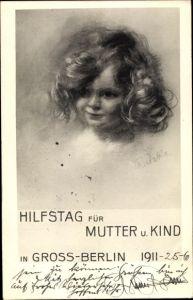 Künstler Ak Ratzka, Hilfstag für Mutter und Kind in Großberlin 1911