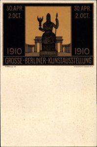 Künstler Ak Kallmorgen, Fr., Berlin Mitte, Große Berliner Kunstausstellung 1910