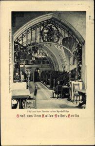 Ak Berlin Mitte, Blick in den Apostelkeller im Kaiserkeller