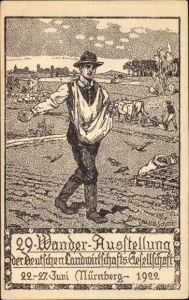 Künstler Ak Nürnberg, 29. Wanderausstellung der deutschen Landwirtschaftsgesellschaft 1922, Säher