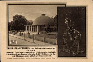 Ak Jena in Thüringen, Zeiss Planetarium im Prinzessinnengarten, Projektionsinstrument
