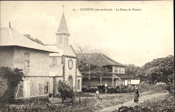Ak Cayenne Französisch Guayana, Le Bourg de Remire