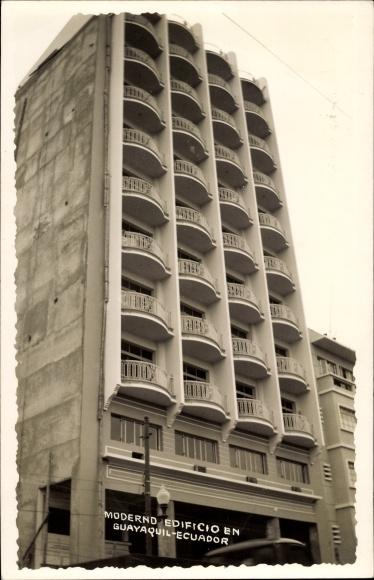 Foto Ak Guayaquil Ecuador, Moderno Edificio, Modernes Hochhaus