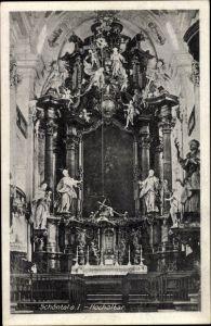 Ak Schöntal in Baden Württemberg, Blick in das Innere der Kirche, Hochaltar