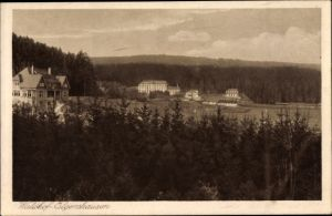 Ak Elgershausen Schauenburg Nordhessen, Blick zum Waldhof mit Umgebung