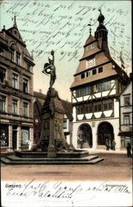 Ak Gießen an der Lahn Hessen, Blick auf das Kriegerdenkmal