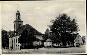 Ak Wendisch Buchholz Märkisch Buchholz in Brandenburg, Marktplatz mit Kirche