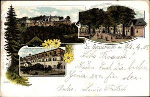 Litho Obernai Oberehnheim Elsass Bas Rhin, Kloster St. Odilienberg, Großer Klosterhof