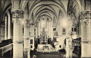 Ak Wolfenbüttel in Niedersachsen, Innenansicht der Stadtkirche, Altar, Gebetsbänke