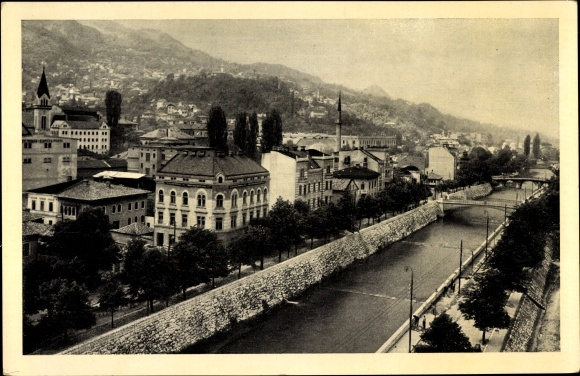 Ak Sarajevo Bosnien Herzegowina, Teilansicht der Stadt