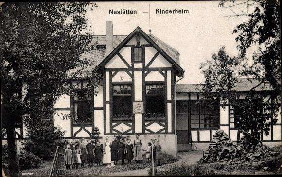 Ak Nastätten im Rhein Lahn Kreis, Kinderheim, Außenansicht