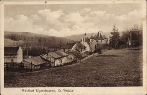 Ak Elgershausen Schauenburg Nordhessen, Blick auf Ortschaft und Umgebung
