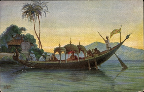 Künstler Ak Rave, Chr., Marine Galerie 188, Zeremonienboot des Kaisers von Birma