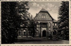 Ak Bad Belzig in Brandenburg, Erholungsheim Belzig Land, Parkhaus