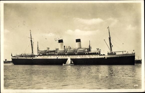 Ak Dampfschiff MS Monte Pascoal, HSDG, Ansicht Steuerbord