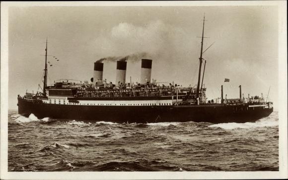 Ak Dampfschiff Cap Polonio, HSDG, Ansicht Steuerbord