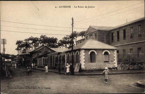Ak Cayenne Französisch Guayana, Le Palais de Justice