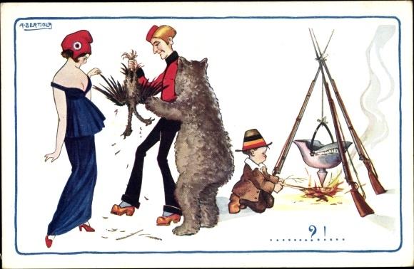 Künstler Ak Bertiglia, Aurelio, Frankreich, England und Russland rupfen Doppelkopfadler, I. WK