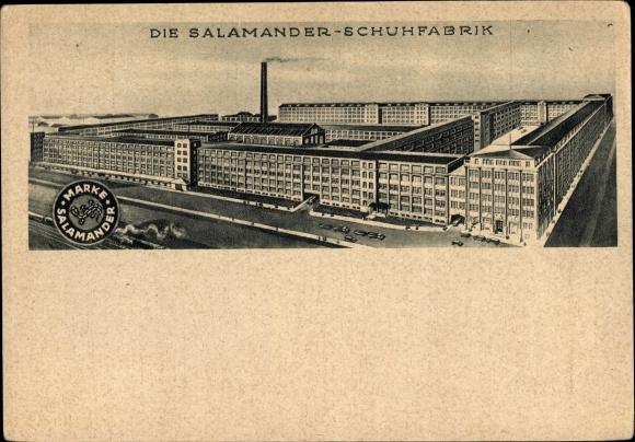 Ak Kornwestheim, Die Salamander Schuhfabrik