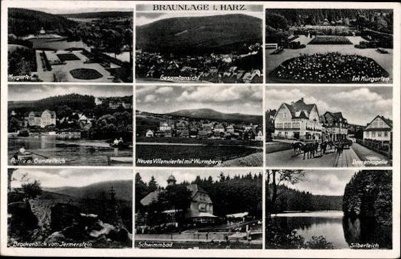 10 alte Ak Braunlage im Oberharz, diverse Ansichten 3