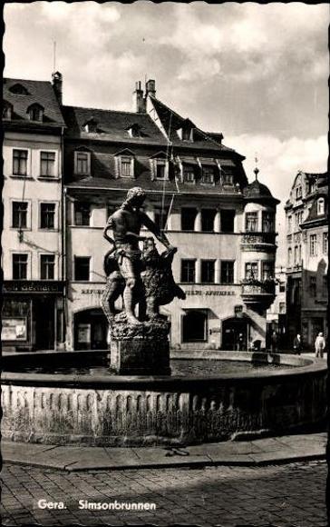 10 alte Ak Gera in Thüringen, diverse Ansichten 1
