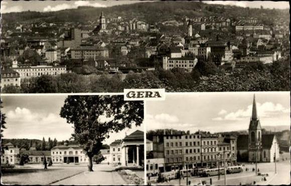 10 alte Ak Gera in Thüringen, diverse Ansichten 4