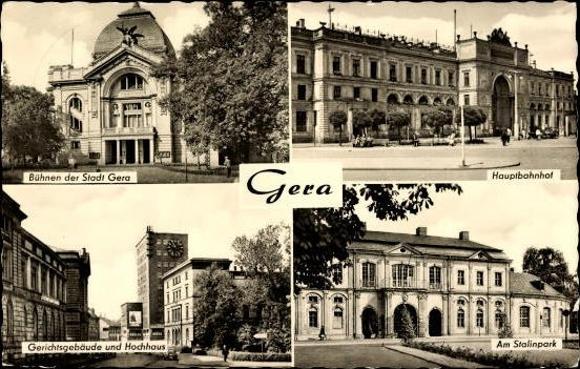 10 alte Ak Gera in Thüringen, diverse Ansichten 6