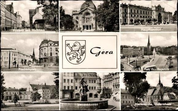 10 alte Ak Gera in Thüringen, diverse Ansichten 7