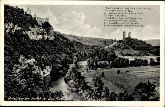 10 alte Ak Rudelsburg in Bad Kösen Naumburg Saale, diverse Ansichten 1