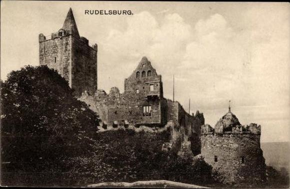 10 alte Ak Rudelsburg in Bad Kösen Naumburg Saale, diverse Ansichten 2