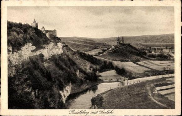 10 alte Ak Rudelsburg in Bad Kösen Naumburg Saale, diverse Ansichten 5