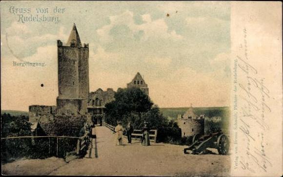 10 alte Ak Rudelsburg in Bad Kösen Naumburg Saale, diverse Ansichten 6