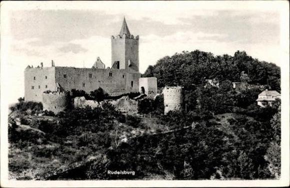 10 alte Ak Rudelsburg in Bad Kösen Naumburg Saale, diverse Ansichten 8