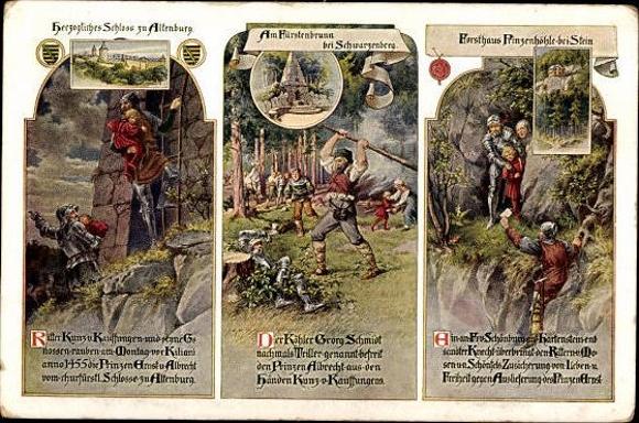 10 alte Ak Altenburg in Thüringen, diverse Ansichten 8
