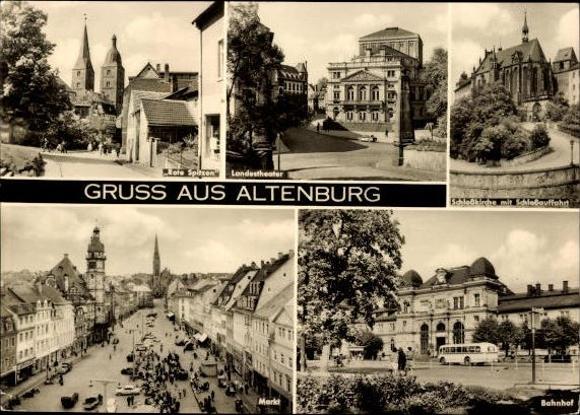 10 alte Ak Altenburg in Thüringen, diverse Ansichten 9