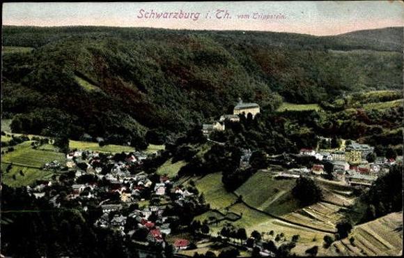 10 alte Ak Schwarzburg in Thüringen, diverse Ansichten 2