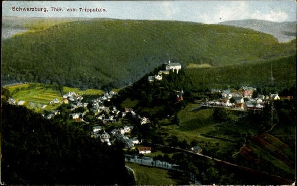 10 alte Ak Schwarzburg in Thüringen, diverse Ansichten 3